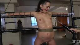 La primera formación de bdsm de la pequeña americana Gia Paige - Vídeo porno hd