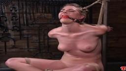 La americana Ashley Lane azotada y con nalgadas en una mazmorra de bdsm